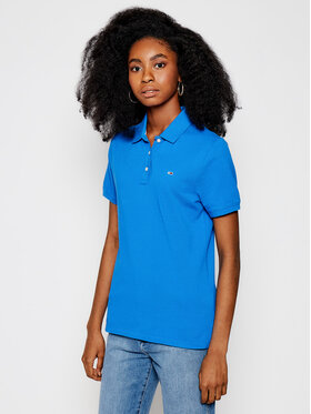 Tommy Jeans Tommy Jeans Pólóing Tjw DW0DW09199 Kék Slim Fit