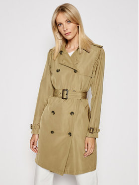 Lauren Ralph Lauren Lauren Ralph Lauren Ανοιξιάτικο παλτό 2Tone Taffeta 297811042002 Καφέ Regular Fit