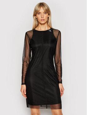 Calvin Klein Jeans Calvin Klein Jeans Ежедневна рокля J20J215666 Черен Slim Fit