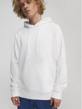 Sprandi Sprandi Majica dugih rukava SS21-BLM012 Bijela Relaxed Fit