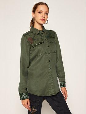 Desigual Desigual Marškiniai Camoflow 20WWCN01 Žalia Regular Fit