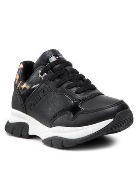 Tommy Hilfiger Tommy Hilfiger Sneakersy Low Cut Lace-Up Sneaker T3A4-31173-1242 Czarny