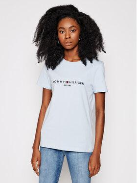 Tommy Hilfiger Tommy Hilfiger T-Shirt Ess WW0WW28681 Niebieski Regular Fit