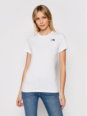 The North Face The North Face Tricou Simple Dome NF0A4T1AFN41 Alb Regular Fit