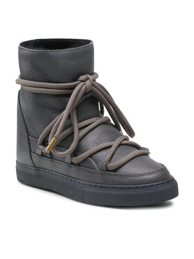 Inuikii Inuikii Topánky Full Leather Wedge 70203-089 Sivá