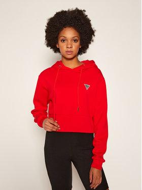 Guess Guess Bluză Mini Triangle Fleec W0BQ09 K7UW2 Roșu Relaxed Fit