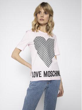 LOVE MOSCHINO LOVE MOSCHINO Тишърт W4F152CM 3876 Розов Regular Fit