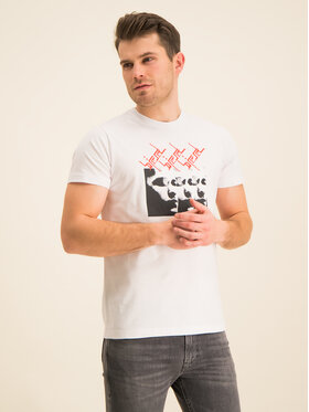 Diesel Diesel T-shirt T-Diego 00SDPB 0091A Blanc Regular Fit