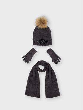 Mayoral Mayoral Zestaw czapka, szalik i rękawiczki 10154 Szary