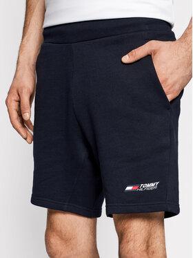 Tommy Hilfiger Tommy Hilfiger Szorty sportowe Terry Logo MW0MW18461 Granatowy Regular Fit