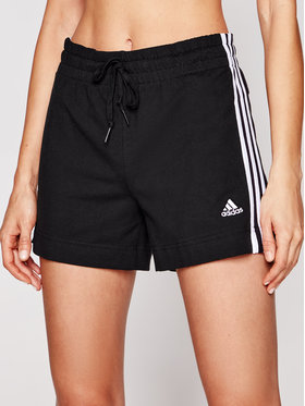 adidas adidas Sportske kratke hlače Essentials Slim 3-Stripes GM5523 Crna Slim Fit