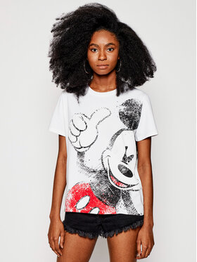 Desigual Desigual T-shirt DISNEY Ok Mickey 21SWTKCZ Blanc Regular Fit