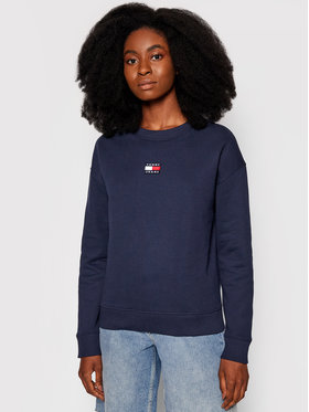 Tommy Jeans Tommy Jeans Bluza Center Badge DW0DW10402 Granatowy Regular Fit