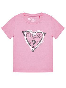 Guess Guess Тишърт K1RI00 K6YW1 Розов Regular Fit