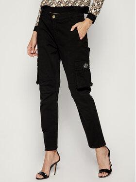 My Twin My Twin Spodnie materiałowe 192MP2413 Czarny Regular Fit