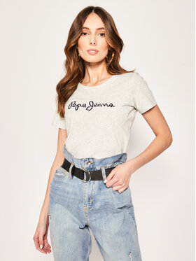Pepe Jeans Pepe Jeans T-Shirt Bambie PL504433 Γκρι Regular Fit