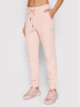 DKNY Sport DKNY Sport Spodnie dresowe DP1P2160 Różowy Regular Fit