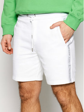 Calvin Klein Jeans Calvin Klein Jeans Short de sport J30J317377 Blanc Regular Fit