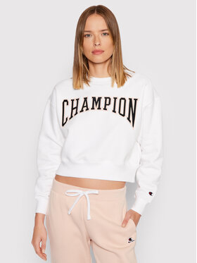 Champion Champion Majica dugih rukava Collegiate Logo 114767 Bijela Regular Fit