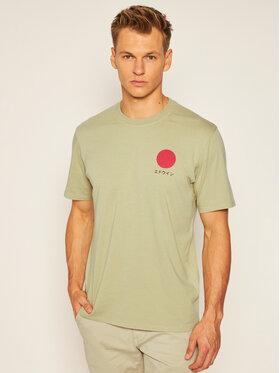 Edwin Edwin T-Shirt Japanese Sun Ts I025020 TF10J94 SPN67 Zielony Regular Fit