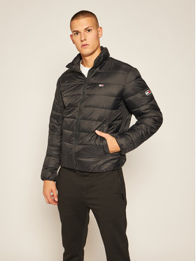 Tommy Jeans Tommy Jeans Daunenjacke Tjm Packable Light Down DM0DM08678 Schwarz Regular Fit