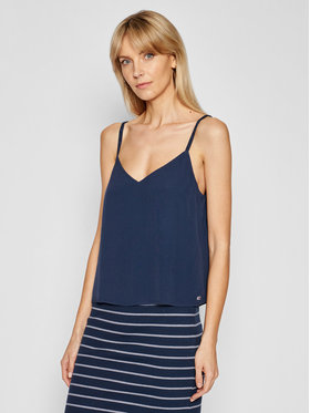 Tommy Jeans Tommy Jeans Top Cami DW0DW09772 Granatowy Regular Fit