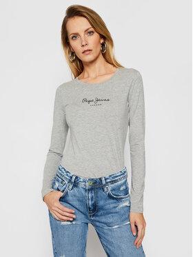 Pepe Jeans Pepe Jeans Блуза New Virginia PL502755 Сив Slim Fit