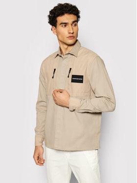 Calvin Klein Jeans Calvin Klein Jeans Bunda pro přechodné období Material Mix J30J317124 Béžová Regular Fit