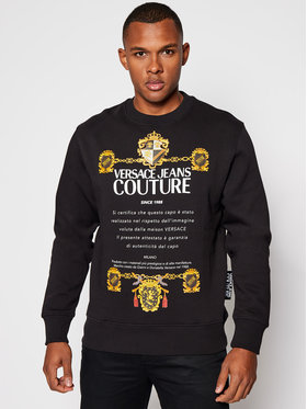 Versace Jeans Couture Versace Jeans Couture Pulóver B7GZB7TU Fekete Regular Fit