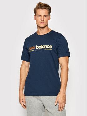New Balance New Balance T-shirt MT13500 Bleu marine Relaxed Fit