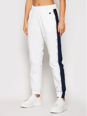 Champion Champion Pantalon jogging Jacquard Logo Tape 113454 Blanc Custom Fit