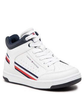 Tommy Hilfiger Tommy Hilfiger Sneakersy High Top Lace-Up Sneaker T3B4-32051-0621 M Biały