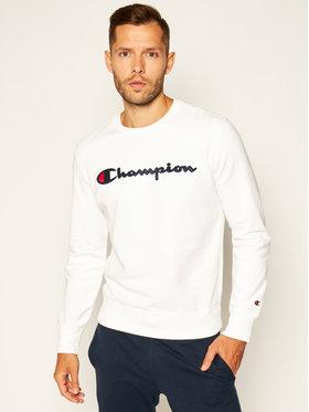 Champion Champion Bluza Satin Script Logo 214188 Biały Comfort Fit