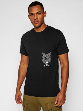 Vans Vans Póló New Varsity Pocke VN0A54C7 Fekete Slim Fit