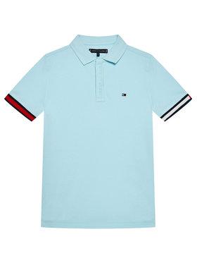 Tommy Hilfiger Tommy Hilfiger Pólóing Global Rib Cuff KB0KB06360 M Kék Regular Fit