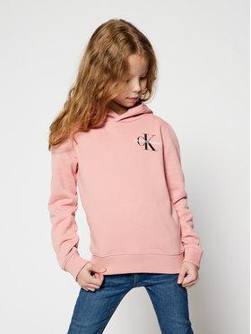 Calvin Klein Jeans Calvin Klein Jeans Pulóver Small Monogram IU0IU00164 Rózsaszín Regular Fit