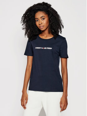 Tommy Hilfiger Tommy Hilfiger T-shirt Graphic S10S101016 Blu scuro Regular Fit