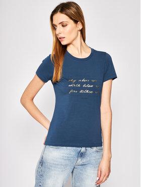 Trussardi Jeans Trussardi Jeans Marškinėliai 56T00243 Tamsiai mėlyna Slim Fit