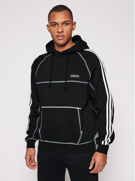 adidas adidas Pulóver Cntrst Stitch H GN3891 Fekete Regular Fit