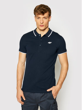 4F 4F Polo marškinėliai NOSH4-TSM009 Tamsiai mėlyna Regular Fit