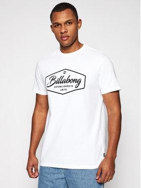 Billabong Billabong T-Shirt Trademark U1SS53BIF0 Biały Regular Fit