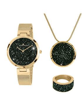 Jacques Lemans Jacques Lemans Zestaw upominkowy Jewellery Set 1-2035L-SET56 Złoty