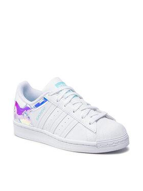 adidas adidas Pantofi Superstar J H03949 Alb