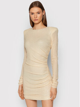 Elisabetta Franchi Elisabetta Franchi Φόρεμα κοκτέιλ AB-007-16E2-V450 Μπεζ Slim Fit