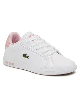 Lacoste Lacoste Sneakersy Graduate 0721 1 Suc 7-41SUC00061Y9 Bílá