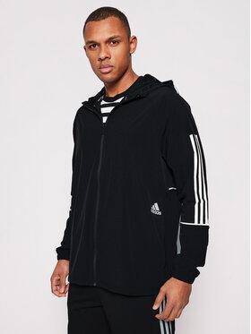 adidas adidas Преходно яке Player 3-Stripes GL4799 Черен Relaxed Fit