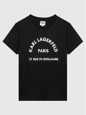 KARL LAGERFELD KARL LAGERFELD Тишърт Z25316 M Черен Regular Fit