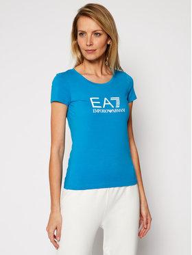 EA7 Emporio Armani EA7 Emporio Armani Póló 8NTT63 TJ12Z 1523 Kék Slim Fit