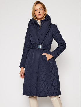 Guess Guess Płaszcz zimowy Wallis W0BL05 WDEY0 Granatowy Regular Fit