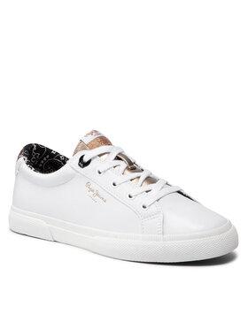 Pepe Jeans Pepe Jeans Πάνινα παπούτσια Kenton Plain PLS31235 Λευκό